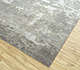 Jaipur Rugs - Hand Knotted Wool and Bamboo Silk Grey and Black ESK-430 Area Rug Floorshot - RUG1053767