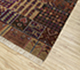 Jaipur Rugs - Hand Knotted Wool and Bamboo Silk Grey and Black LES-257 Area Rug Floorshot - RUG1082982