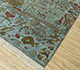 Jaipur Rugs - Hand Knotted Wool and Bamboo Silk Blue LES-285 Area Rug Floorshot - RUG1093083