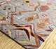 Jaipur Rugs - Hand Knotted Wool and Bamboo Silk Grey and Black LES-461 Area Rug Floorshot - RUG1092489