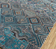 Jaipur Rugs - Hand Knotted Wool and Bamboo Silk Blue LES-710 Area Rug Floorshot - RUG1106959