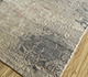 Jaipur Rugs - Hand Knotted Wool and Silk Grey and Black LRS-13 Area Rug Floorshot - RUG1090081