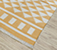 Jaipur Rugs - Flat Weaves Cotton Gold PDCT-07 Area Rug Floorshot - RUG1107266