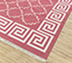 Jaipur Rugs - Flat Weave Cotton Red and Orange PDCT-103 Area Rug Floorshot - RUG1107330