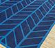 Jaipur Rugs - Flat Weave Cotton Blue PDCT-117 Area Rug Floorshot - RUG1091553