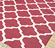Jaipur Rugs - Flat Weave Cotton Red and Orange PDCT-59 Area Rug Floorshot - RUG1091470