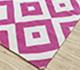 Jaipur Rugs - Flat Weaves Cotton Pink and Purple PDCT-66 Area Rug Floorshot - RUG1086698