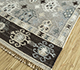 Jaipur Rugs - Flat Weave Wool and Viscose Grey and Black PDWV-54 Area Rug Floorshot - RUG1098516