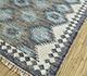 Jaipur Rugs - Flat Weaves Wool and Viscose Blue PDWV-58 Area Rug Floorshot - RUG1098519
