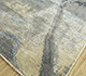 Jaipur Rugs - Hand Knotted Wool and Silk Grey and Black PKWS-483 Area Rug Floorshot - RUG1110914