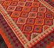 Jaipur Rugs - Flat Weaves Wool Red and Orange PX-2097 Area Rug Floorshot - RUG1038769