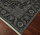 Jaipur Rugs - Hand Knotted Wool and Silk Grey and Black QM-163 Area Rug Floorshot - RUG1068740