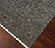 Jaipur Rugs - Hand Knotted Wool and Silk Grey and Black QM-163 Area Rug Floorshot - RUG1068741