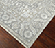 Jaipur Rugs - Hand Knotted Wool and Silk Grey and Black QM-163 Area Rug Floorshot - RUG1068742