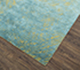 Jaipur Rugs - Hand Knotted Wool and Silk Gold QM-951 Area Rug Floorshot - RUG1076364