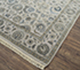 Jaipur Rugs - Hand Knotted Wool and Silk Grey and Black QNQ-21 Area Rug Floorshot - RUG1065463