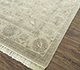 Jaipur Rugs - Hand Knotted Wool and Silk Ivory QNQ-21 Area Rug Floorshot - RUG1077118