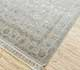 Jaipur Rugs - Hand Knotted Wool and Silk Grey and Black QNQ-44 Area Rug Floorshot - RUG1040477