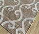Jaipur Rugs - Flat Weave Wool and Viscose Beige and Brown SDWV-107 Area Rug Floorshot - RUG1099836