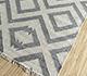 Jaipur Rugs - Flat Weave Wool and Viscose Ivory SDWV-14 Area Rug Floorshot - RUG1100301