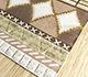 Jaipur Rugs - Flat Weave Wool and Viscose Beige and Brown SDWV-149 Area Rug Floorshot - RUG1099824