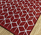 Jaipur Rugs - Flat Weave Wool and Viscose Red and Orange SDWV-179 Area Rug Floorshot - RUG1099860