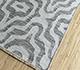 Jaipur Rugs - Flat Weave Wool and Viscose Grey and Black SDWV-20 Area Rug Floorshot - RUG1100317