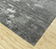 Jaipur Rugs - Hand Knotted Wool and Bamboo Silk Grey and Black SRB-702 Area Rug Floorshot - RUG1089829