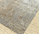 Jaipur Rugs - Hand Knotted Wool and Bamboo Silk Grey and Black SRB-703 Area Rug Floorshot - RUG1085112