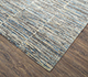 Jaipur Rugs - Hand Knotted Wool and Bamboo Silk Grey and Black SRB-712 Area Rug Floorshot - RUG1074100