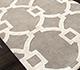 Jaipur Rugs - Hand Tufted Wool and Viscose Grey and Black TAQ-193 Area Rug Floorshot - RUG1037055