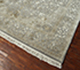 Jaipur Rugs - Hand Knotted Wool and Silk Grey and Black QNQ-50 Area Rug Floorshot - RUG1058369