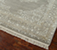 Jaipur Rugs - Hand Knotted Wool and Silk Grey and Black QNQ-55 Area Rug Floorshot - RUG1050288