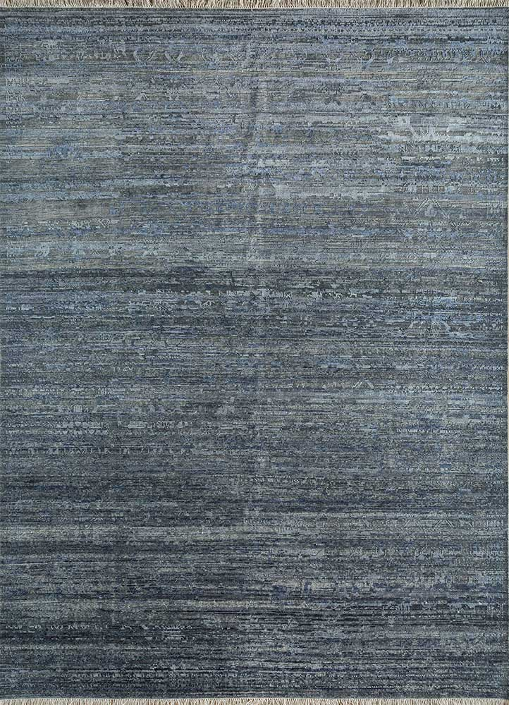 Jaipur Rugs Hand Knotted Wool And Silk Blue Akws 1426 Area Rug Rug1113536