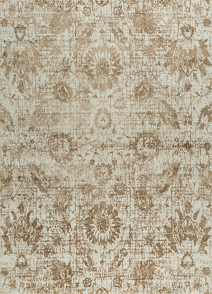 Jaipur Rugs Hand Knotted Wool And Bamboo Silk Ivory Esk 624 Area Rug Rug1088210
