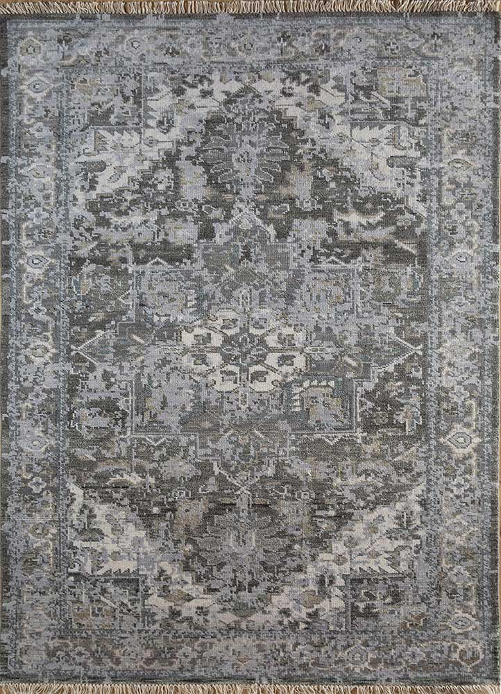 Jaipur Rugs Hand Knotted Wool Grey And Black Lca 17 Area Rug Rug1102519