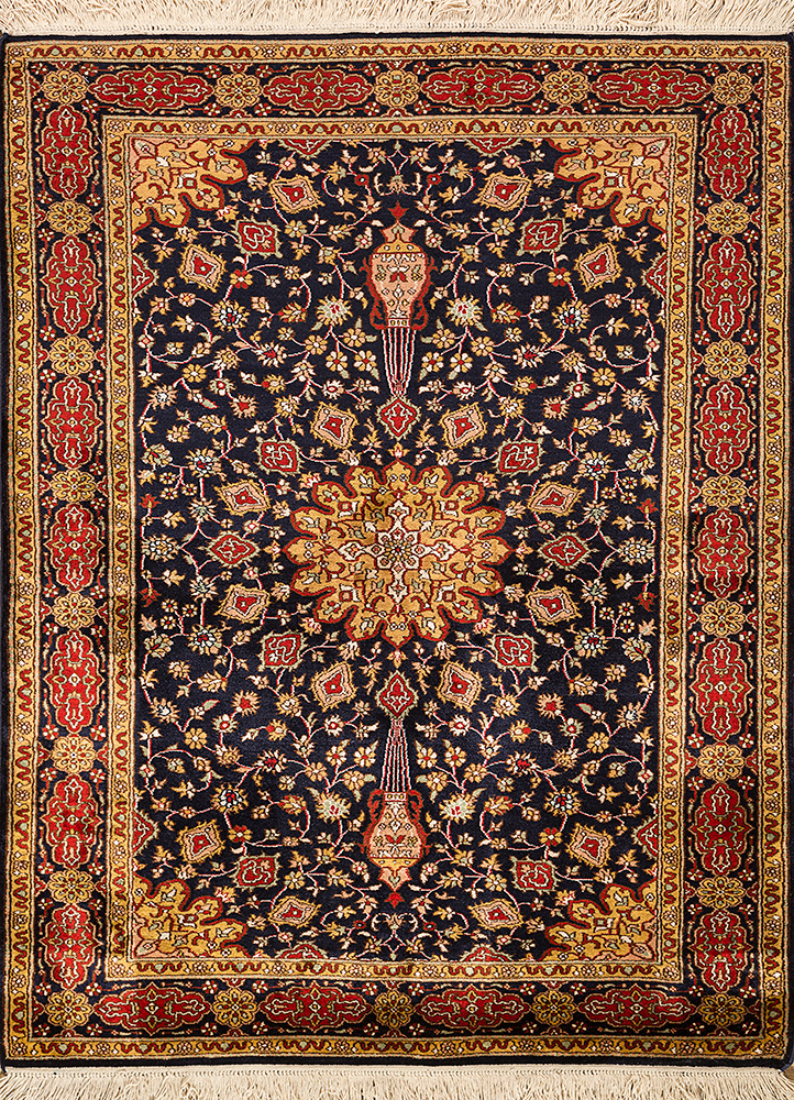 Jaipur Rugs Hand Knotted Silk Beige And Brown Skps 21 Area Rug Rug1093868
