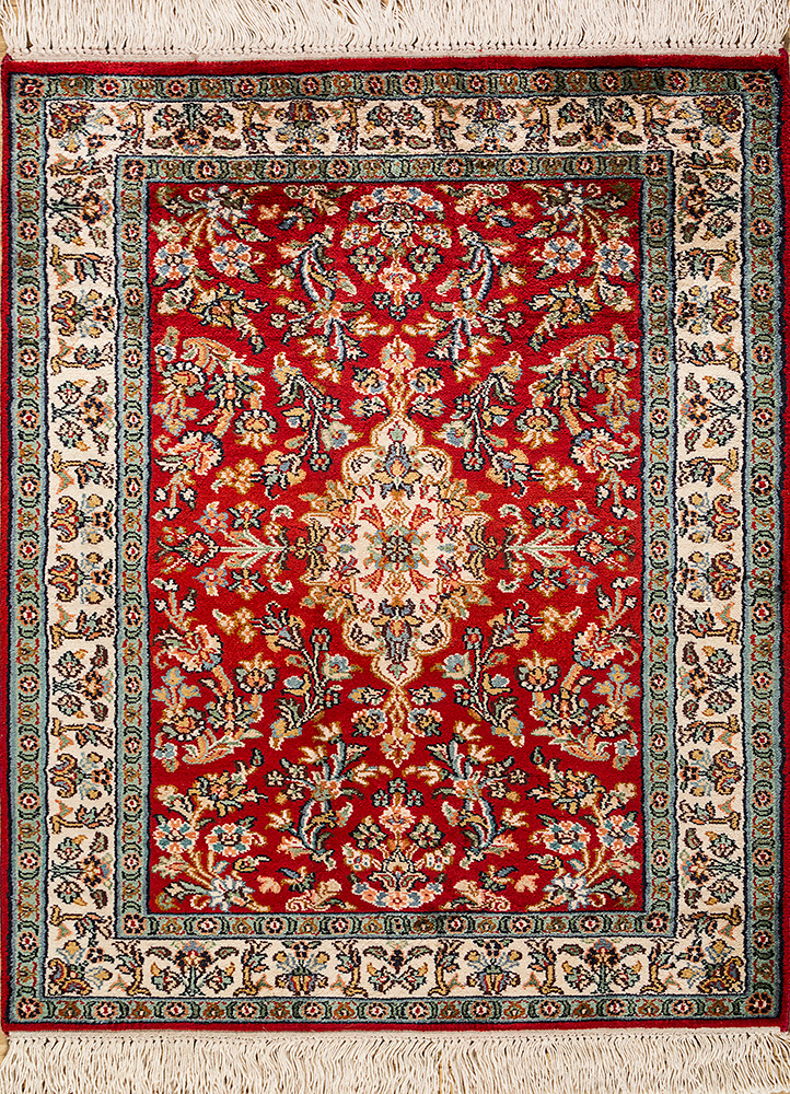 Jaipur Rugs Hand Knotted Silk Red And Orange Skps 32 Area Rug Rug1093831