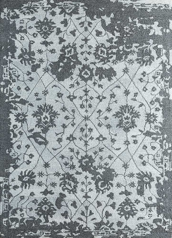 Jaipur Rugs Hand Tufted Wool And Viscose Grey And Black Tra 13079 Area Rug Rug1103992