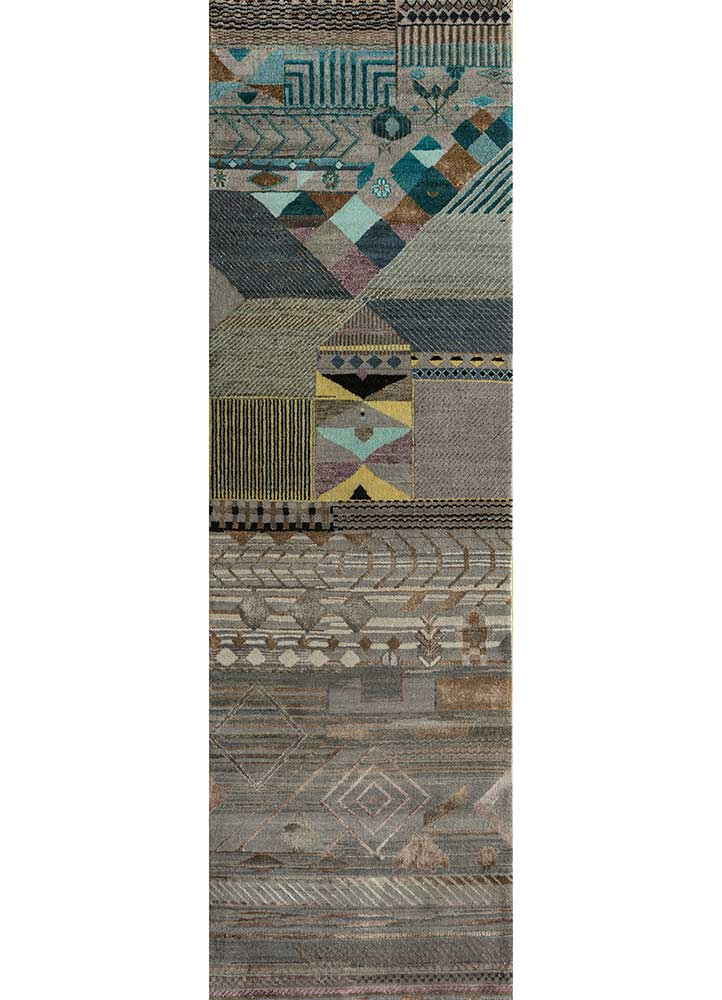 Jaipur Rugs Hand Knotted Wool And Bamboo Silk Grey And Black Les 854 Area Rug Rug1111289