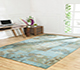 Jaipur Rugs - Patchwork Wool Blue CX-2247 Area Rug Roomscene shot - RUG1049231