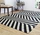 Jaipur Rugs - Flat Weaves Wool Grey and Black DW-112 Area Rug Roomscene shot - RUG1032903