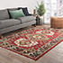Jaipur Rugs - Hand Knotted Wool Red and Orange LCA-2351 Area Rug Roomscene shot - RUG1034037