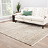 Jaipur Rugs - Hand Knotted Wool and Silk Grey and Black NRA-55 Area Rug Roomscene shot - RUG1020851