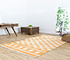 Jaipur Rugs - Flat Weaves Cotton Gold PDCT-07 Area Rug Roomscene shot - RUG1107266