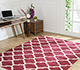 Jaipur Rugs - Flat Weave Cotton Red and Orange PDCT-59 Area Rug Roomscene shot - RUG1091470