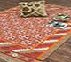 Jaipur Rugs - Flat Weaves Wool Red and Orange PDWL-73 Area Rug Roomscene shot - RUG1033239
