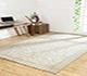 Jaipur Rugs - Hand Knotted Wool Ivory PKWL-6204 Area Rug Roomscene shot - RUG1063596