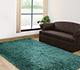 Jaipur Rugs - Shag Synthetic Fiber Blue PX-1371 Area Rug Roomscene shot - RUG1038671