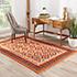 Jaipur Rugs - Flat Weaves Wool Red and Orange PX-2097 Area Rug Roomscene shot - RUG1038769